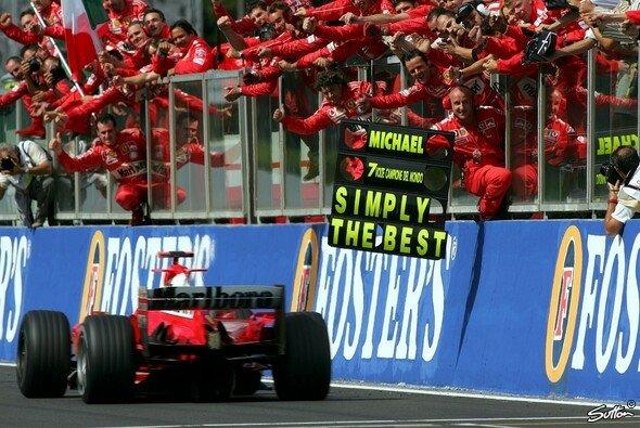 7 WM-Titel: Michael Schumacher ist unerreicht - Foto: Sutton