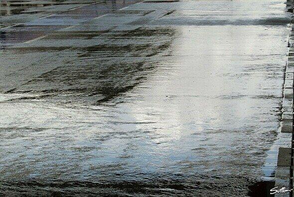 Land unter: Starke Regenfälle beeinträchtigten das erste BES-Training nachhaltig