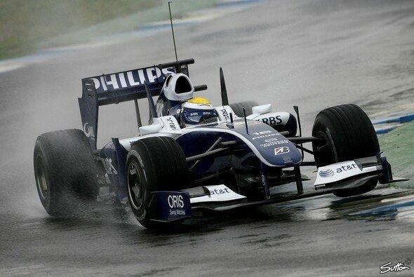 Nico Rosberg erzielte die schnellste Rundenzeit im Regen. - Foto: Sutton