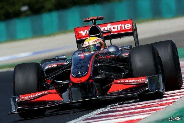 Lewis Hamilton fuhr die Bestzeit in Ungarn. - Foto: Sutton