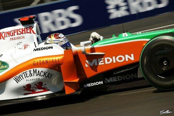 Adrian Sutil war der Schnellste am Samstagvormittag. - Foto: Sutton