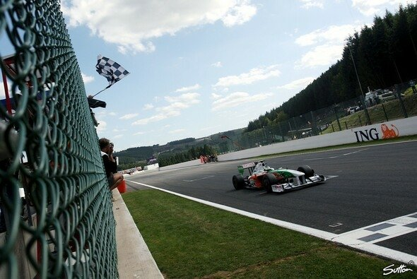 Giancarlo Fisichella wurde 2009 für Force India in Spa Zweiter - Foto: Sutton