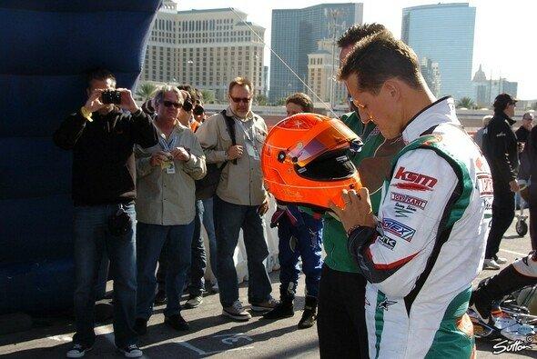 Michael Schumacher vertraut seit einigen Jahren auf Tony Kart, hier 2009 in Las Vegas