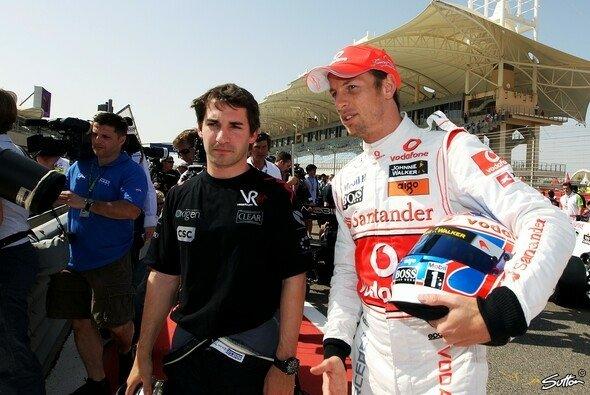 Jenson Button und Timo Glock kennen sich noch aus der Formel 1 - Foto: Sutton