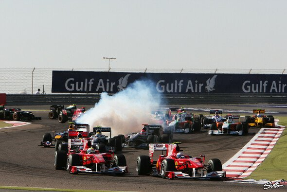 Trotz veränderter Streckenführung zählte der Bahrain GP 2010 nicht zu den spannendsten Rennen - Foto: Sutton