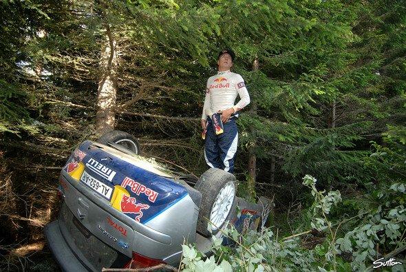 Kimi Räikkönen und Rallye - das ging nicht immer unfallfrei aus
