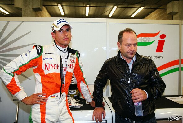 Manfred Zimmermann und Adrian Sutil - Foto: Sutton