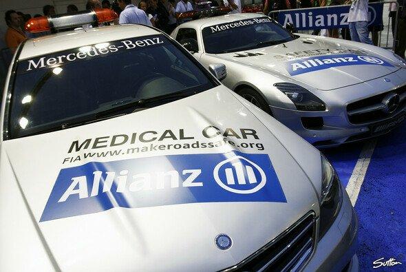 Die Allianz wirbt bereits auf dem Safety Car