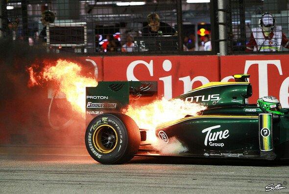 Heikki Kovalainen heizte die Nacht an - Foto: Sutton