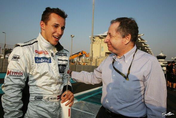 Christian Klien, hier mit Jean Todt, hält die F1-Regeln für unverständlich. - Foto: Sutton