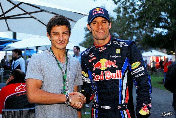 Nachwuchshoffnung Mitch Evans wird von Red-Bull-F1-Pilot Mark Webber unterstützt