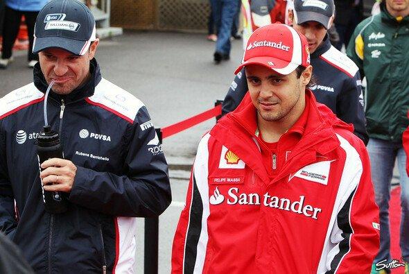 Felipe Massa besuchte seinen Freund Rubens Barrichello in Sao Paulo