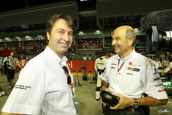 Heinz-Harald Frentzen mit Peter Sauber