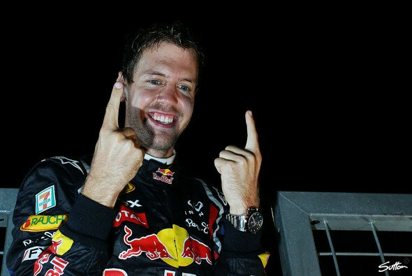Sebastian Vettel war am Sonntag in Suzuka ein gefragter Mann - Foto: Sutton