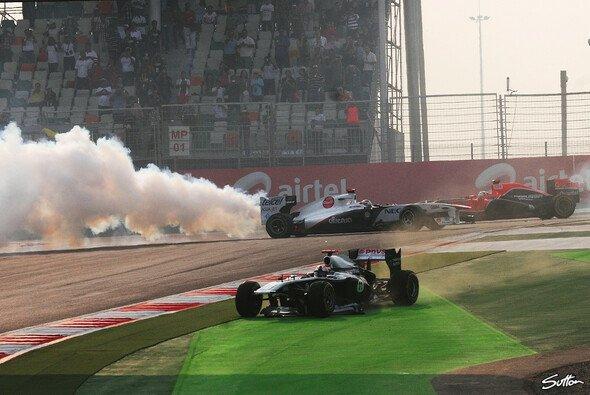 Die Indien-Premiere endete für Timo Glock unliebsam