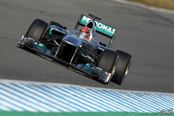 In Jerez war Schumacher mit dem Vorjahresmodell unterwegs