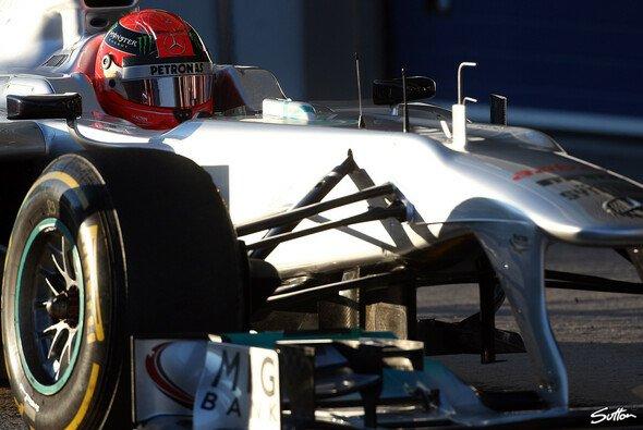Schumacher lag in Jerez vorne