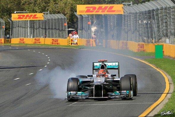 Michael Schumacher fiel in Melbourne vorzeitig aus