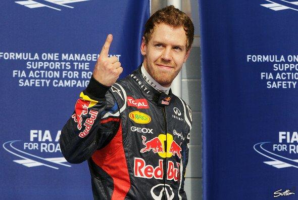 Lange nicht mehr gesehen: Der richtige Vettel-Finger - Foto: Sutton