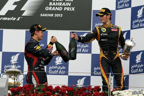 Romain Grosjean feierte in Bahrain 2012 sein erstes Podium in der Formel 1 - Foto: Sutton