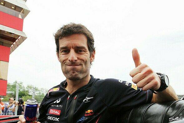 Das Bein ist in ordnung: Mark Webber kann durchatmen