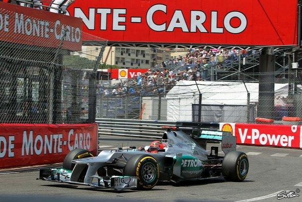 In Monaco fuhr Schumacher mit dem W03 die schnellste Qualifying-Runde