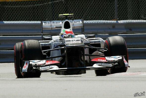 Sergio Perez hatte im Qualifying Probleme mit der Bremsbalance - Foto: Sutton