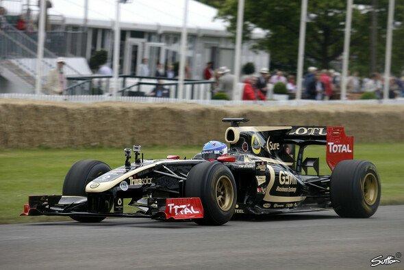 2012 schon einmal im Lotus - allerdings beim Festival of Speed in Goodwood: Nicolas Prost