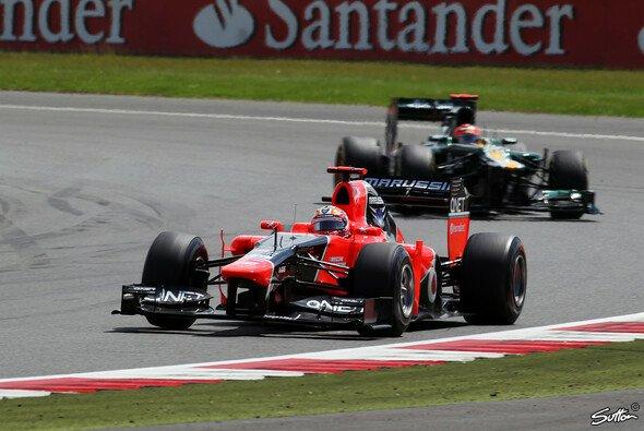 Timo Glock musste sich Heikki Kovalainen geschlagen geben