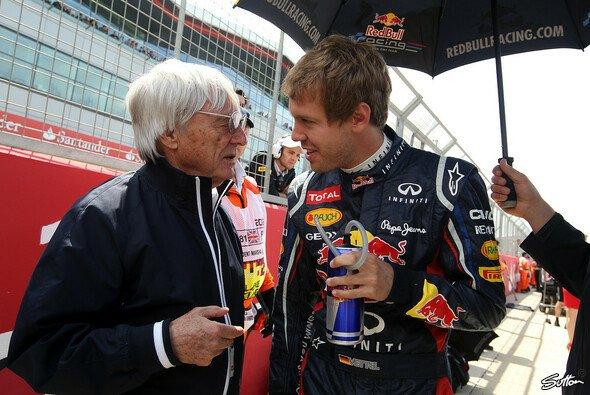 Bernie Ecclestone und Sebastian Vettel verstehen sich gut