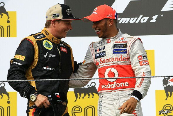 Lewis Hamilton und Kimi Räikkönen lassen sich nicht alles sagen