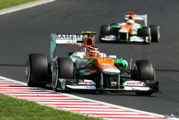 Nico Hülkenberg hatte bei Force India die Nase vorne