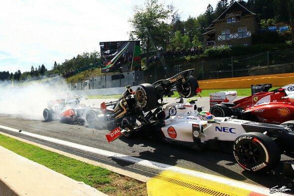 Romain Grosjean überstand die Startphase nur selten ohne Carbonverlust
