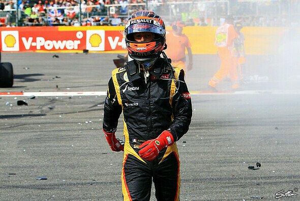 Romain Grosjean hinterließ meist ein Trümmerfeld