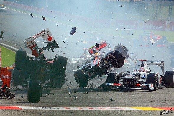 Romain Grosjean fabrizierte viel Schrott