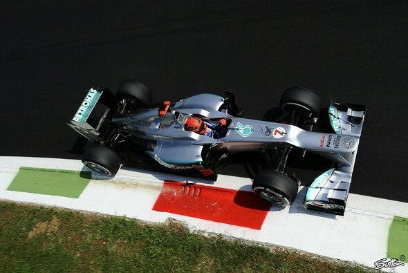Michael Schumacher startet in Monza aus Reihe zwei
