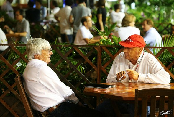 Bernie Ecclestone und Niki Lauda kennen sich bereits seit Jahrzehnten