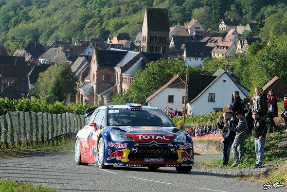 Sebastien Loeb fährt seinen zweiten Sieg im Elsass entgegen