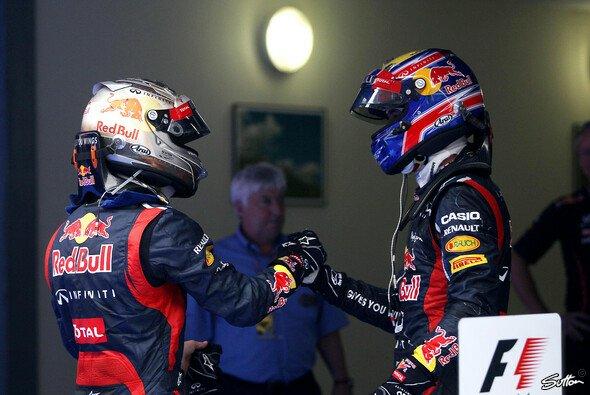 Hand in Hand zum Erfolg: Mark Webber und Sebastian Vettel