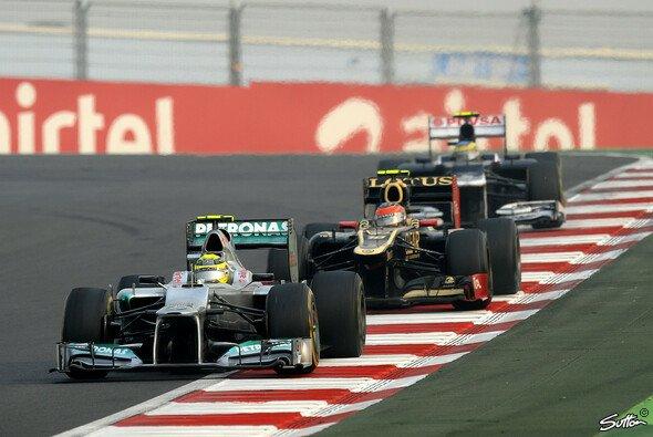 Hinter Rosberg hingen in Indien einige Fahrer fest