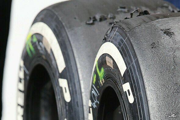 Geringer Reifenverschleiß am Ende der Saison