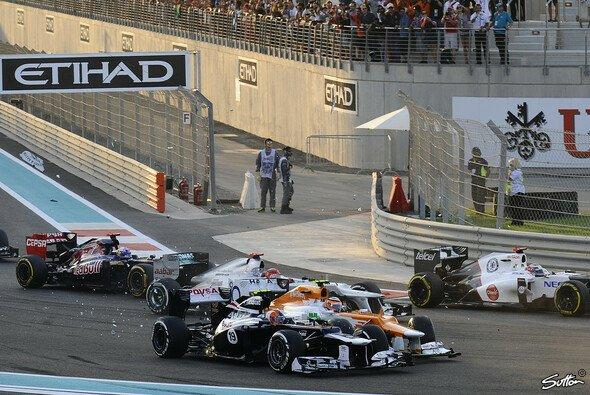 Bruno Senna hatte Pech in Kurve eins