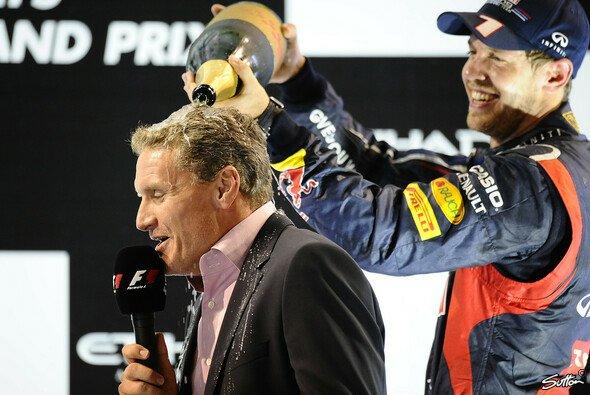 Die Begegnungen zwischen Sebastian Vettel und David Coulthard waren meist feucht-fröhlich