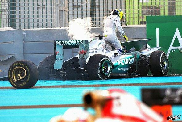 Nico Rosberg hatte es am Rennsonntag in Abu Dhabi nicht leicht