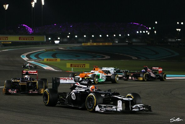 Bruno Senna fuhr beim Abu Dhabi GP zum neunten Mal in dieser Saison in die Punkte