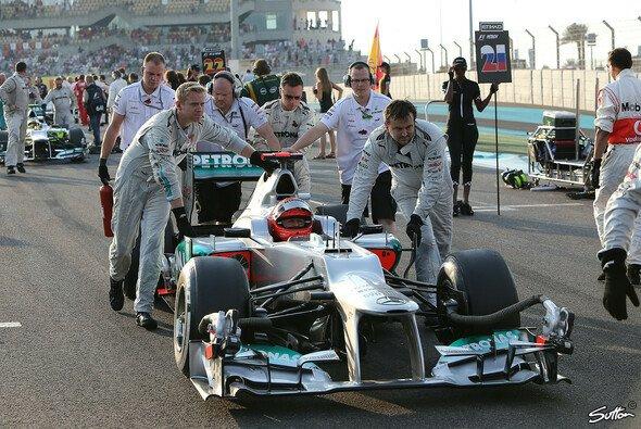 Schafft Michael Schumacher in seinem letzten Rennen noch einmal den Sprung auf das Podest?