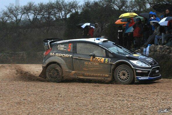 Ott Tänak bei der katalonischen Rallye-Schlammschlacht