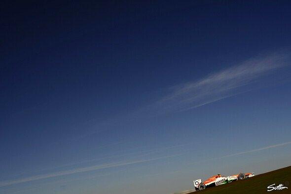 Am Samstag gab es blauen Himmel über Texas - und einen schnellen Nico Hülkenberg