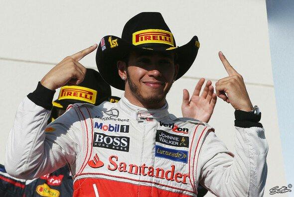 Cowboy-Hut und Sieg für Lewis Hamilton in Austin
