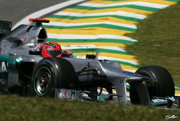 Schumacher spulte 72 Runden ab